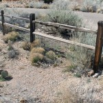 Acceptable: Split rail, unfinished / weathered