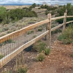 Acceptable: Split rail with Vermin Wire